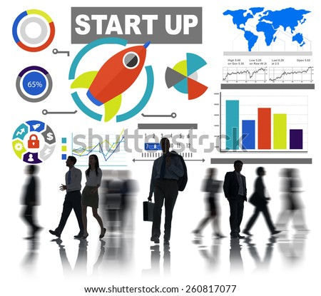 Business People Start up Infographic Professional Occupation Concept - stock photo