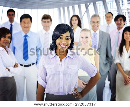 Business People Team Success Cheerful Concept - stock photo