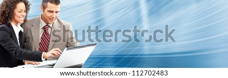 Business people team working with laptop computer. - stock photo