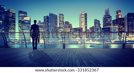 Business People Thinking Vision Planning Strategy Concept - stock photo