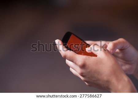 Business People Using Smart Phone - stock photo