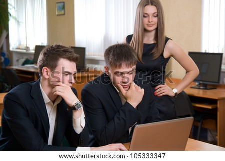 Business people work at the office. - stock photo