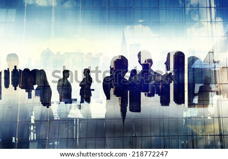 Business People Working and Urban Scene - stock photo