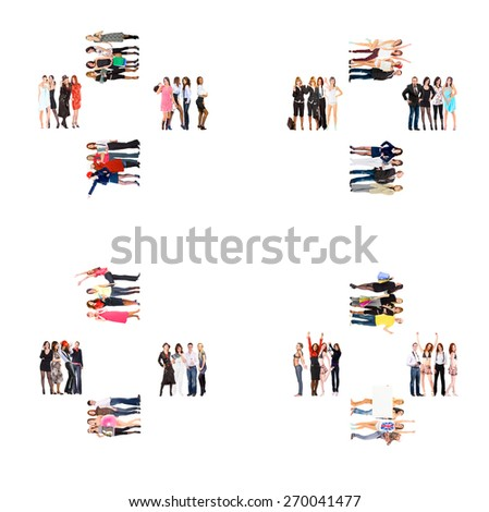 Business Picture Achievement Idea  - stock photo