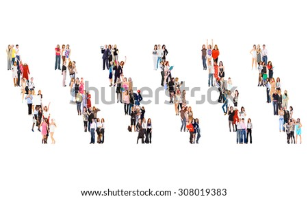 Business Picture Isolated Groups  - stock photo