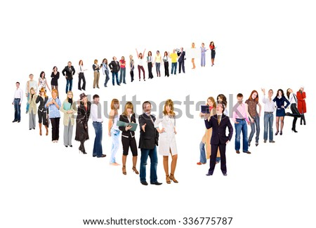 Business Picture Together we Stand  - stock photo