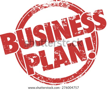Business Plan words in a red ink grungy stamp to illustrate a company startup strategy or steps, tips or advice to follow for a new venture - stock photo
