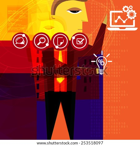 Business Planning Abstract - Stock Image - stock photo