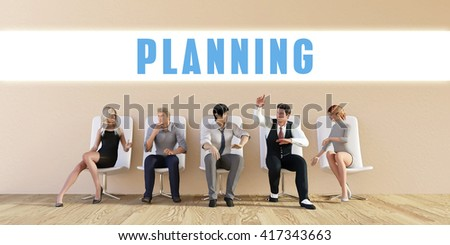 Business Planning Being Discussed in a Group Meeting 3D Illustration Render - stock photo