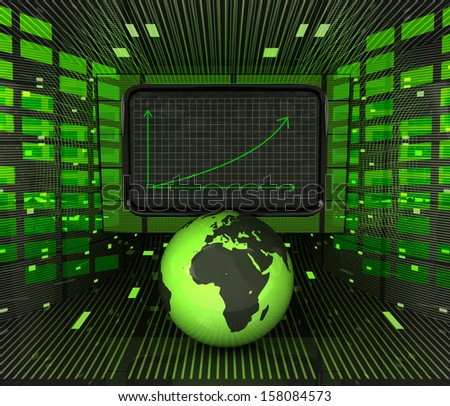 business positive graph forecast or results in african countries illustration - stock photo