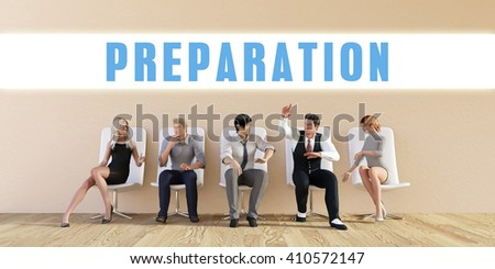Business Preparation Being Discussed in a Group Meeting 3D Illustration Render - stock photo