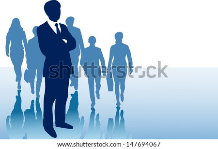 Business presentation background for slides with group af business men and women � copy space for your writing - stock photo
