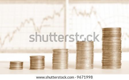 business progress - stock photo