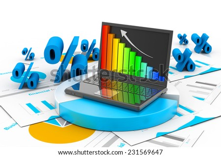 Business progress chart - stock photo