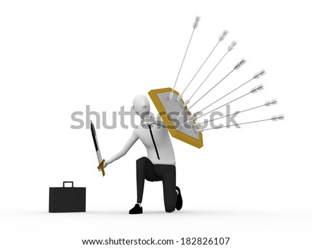 business protection - stock photo