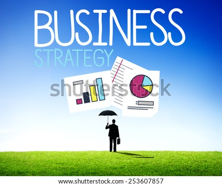 Business Protection Strategy Security Data Concept - stock photo