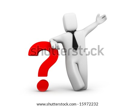 Business question - stock photo