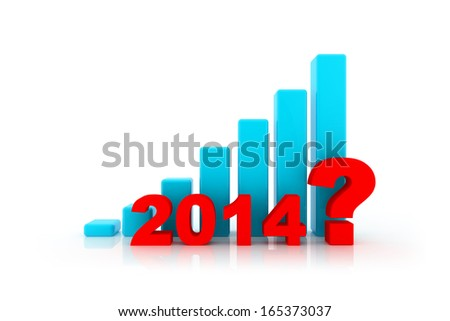 business question about 2014 on graph - stock photo