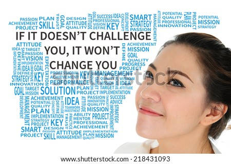 Business quote concept present passion motto - stock photo