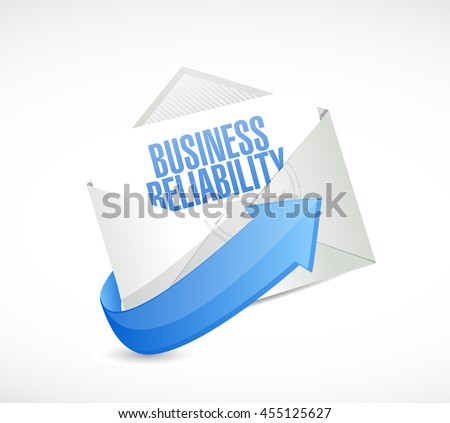 Business reliability mail sign concept illustration design graphic - stock photo