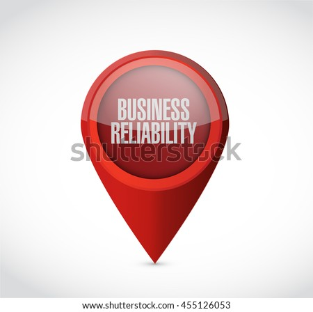 Business reliability pointer sign concept illustration design graphic - stock photo