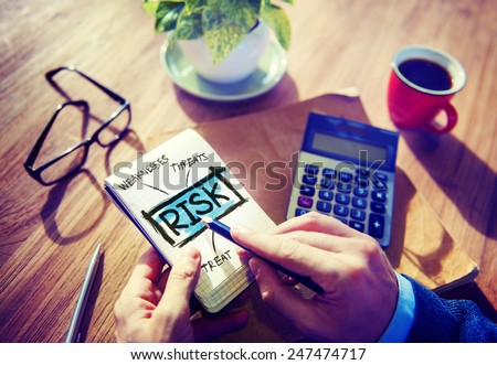 Business Risk Weakness Investment Office Working Concept - stock photo