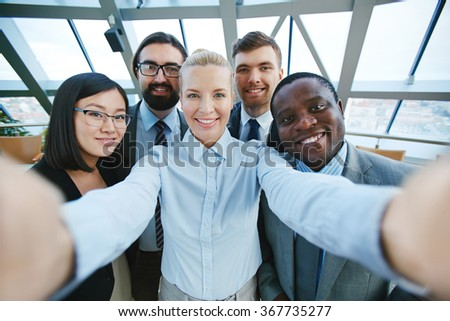 Business selfie - stock photo