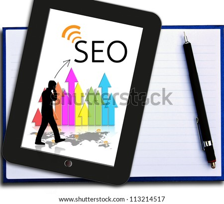 Business seo - stock photo