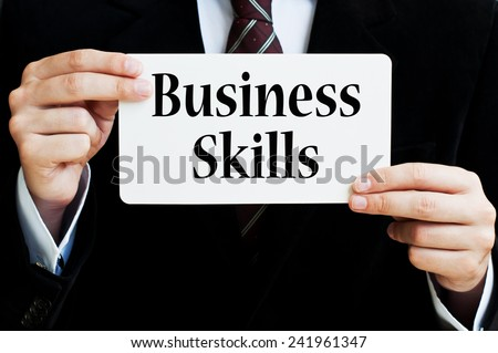 Business Skills Concept - stock photo
