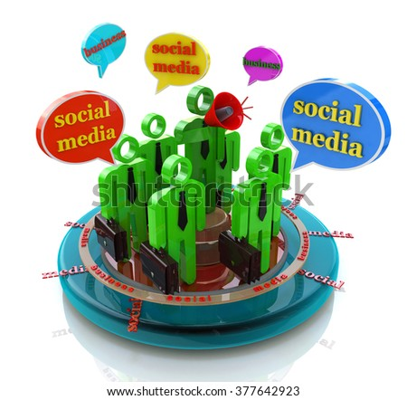 Business social media network speech bubbles in the design of the information related to the communication and message - stock photo