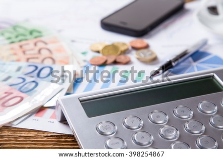 business still life in office, work concept - stock photo