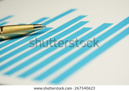 Business stock chart diagram.  - stock photo