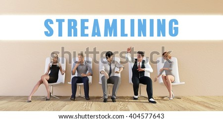 Business Streamlining Being Discussed in a Group Meeting 3D Illustration Render - stock photo