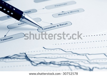 Business structure analyzing. - stock photo