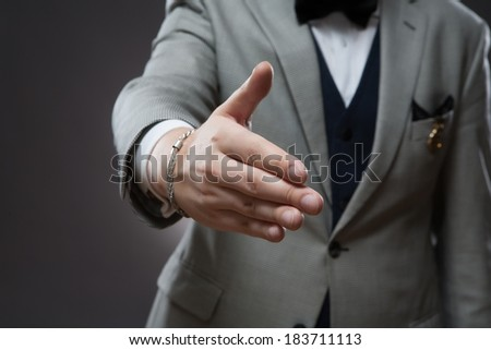 Business success and cooperation - stock photo