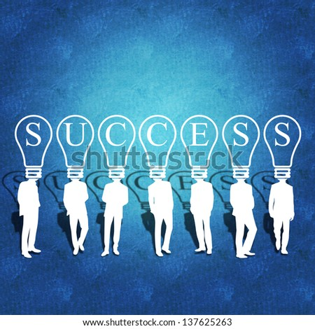 Business success and teamwork - stock photo