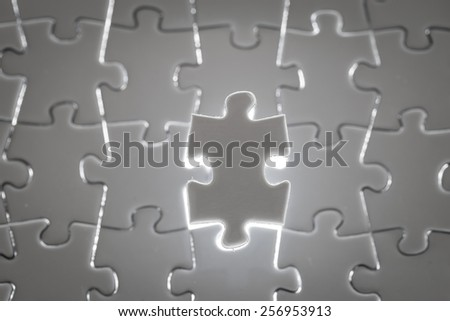 Business success, jigsaw puzzle concept - stock photo