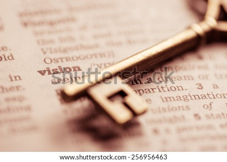 Business success key concept vision - stock photo