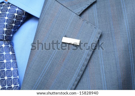 Business suit, tie, shirt and accessories - stock photo