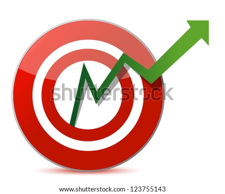 Business target marketing concept illustration design over a white background - stock photo