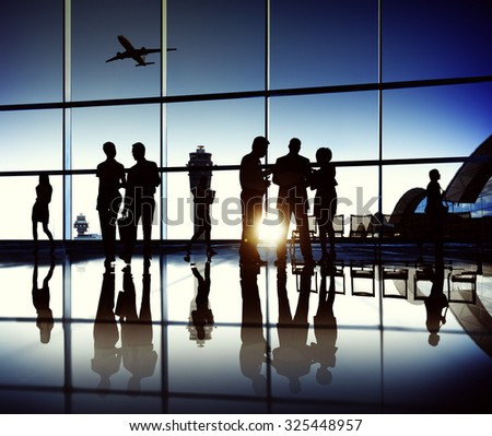 Business Team Airport Journey Travel Concept - stock photo