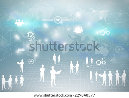 Business team and business world. - stock photo