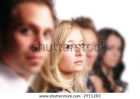 business team and its members posing - stock photo