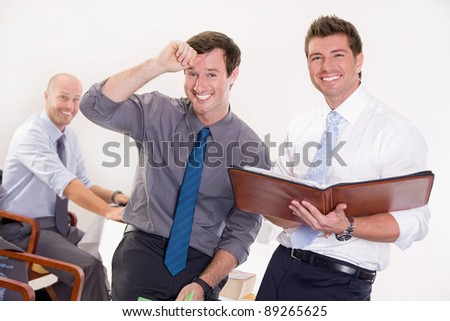 Business team at a meeting - stock photo
