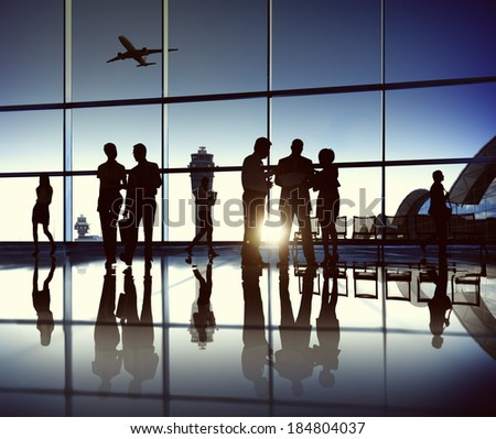 Business Team at the Airport - stock photo