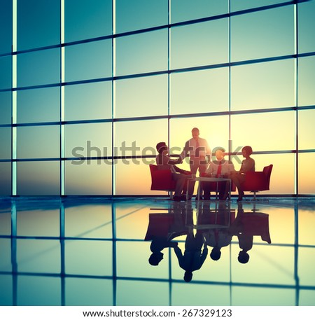 Business Team Brainstorming Meeting Conference Concept - stock photo