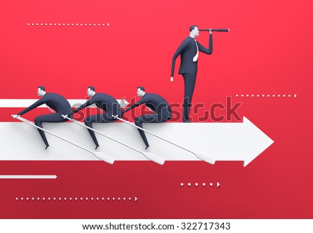 Business team. Business rendered illustration - stock photo