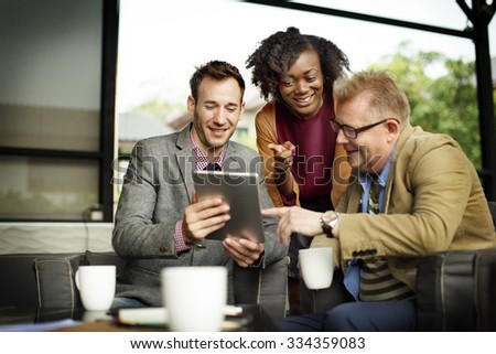 Business Team Coffee Shop Connection Organization Concept - stock photo