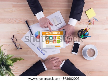Business team concept - Accounting - stock photo
