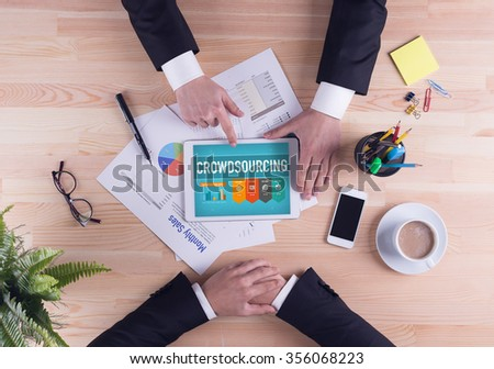 Business team concept - CROWDSOURCING - stock photo